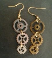 Steampunk Earrings by PhantomDawn