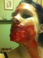 Zombie makeup by AnthraxBlood