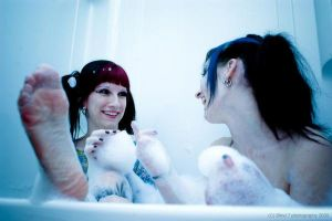 Bath Monsters at Play by MandiMalfunction