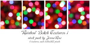 Rainbow Bokeh Pack 1 by Jenna-Rose