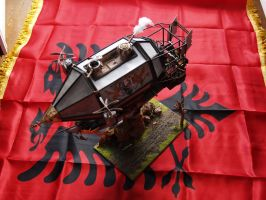 Eisenstern, warhammer empire airship 1 by draggane