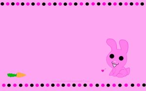 Pink Bunny Wallpaper by GuardianKitsune