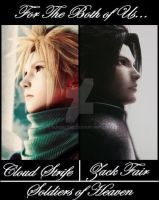 Cloud and Zack-Soldiers of Heaven by Sundelyne