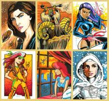 More sketch card commissions by Sonion