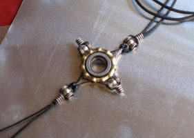 Industrial cross necklace by morgenland
