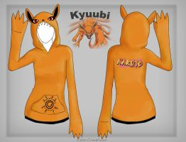 Kyuubi hoodie design by Vala-Creations