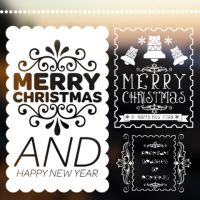 Christmas Stamps Premium Brush Set by Romenig