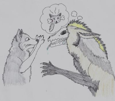 Inktober-Hungry by wolfforce58