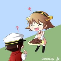 [RWBY x KanColle] Admiral Ruby and Hiei by Rukotaro