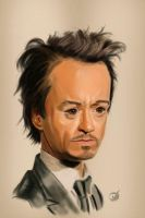 Robert Downey Jr. Caricature-Color by iwachter