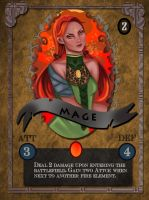 Fire Mage Card by CLF18