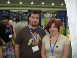 BronyCon 2013 - Photo with Jessy (Palette Swap) by AleximusPrime