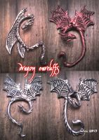 DRAGON EARCUFFS by SkekLa