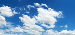 Blue Sky and Clouds Stock by Phaedris