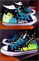 Cats on chucks by Gohush