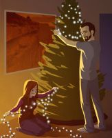 My Favorite Moments - Setting Up The Tree by moth-eatn