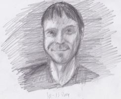 Fast portrait sketch.. by FuzzyMonkeyMan