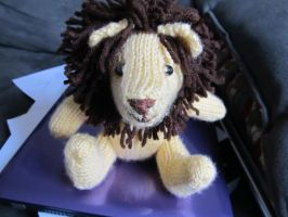 Knitted Lion by CharleneKaraline