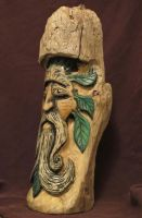 side view wood spirit carving by RiverOtterWidget
