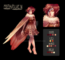 Moth/Elven |Adoptable - CLOSED| by Asano-nee