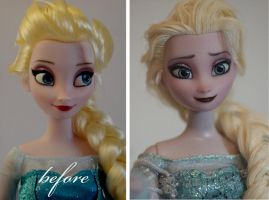 Elsa the Snow Queen repaint by lulemee