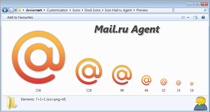 Icon Mail.ru Agent by HectoRUA