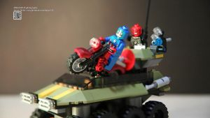 LEGO 76017 MARVEL SuperHeroes Captain America vs H by Digger318