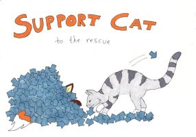 Support Cat to the Rescue by jenniology