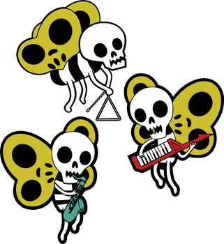 Skeleton Butterfly Band by Gathow