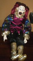 Jester doll by spookysculpter