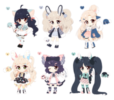 Female Whistler Adopts (CLOSED) by bunnilu