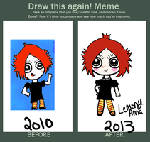 Meme: Before and After by LemonyAnna