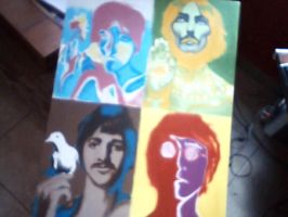 Pop Art The Beatles by amused-mai