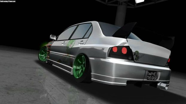 Mitsubishi Evolution 8 with Gardevoir Livery by fai1699