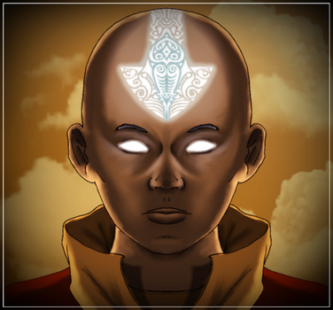 Avatar Aang quickie by DarthDestruktor