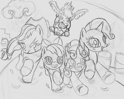 Commission:  Sisterhooves Social Shadowbox Sketch by The-Paper-Pony