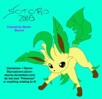 Leafeon Colored by Storm-Skyrus