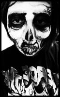 Zombie Skull Makeup attempt 1 by Gears-And-Hearts