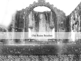 Ruins Brushes Stamps by Kittyd-Stock