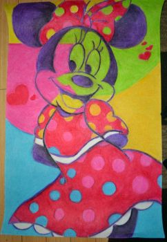 Miney Mouse Pop Art Project by chips-a-hoii