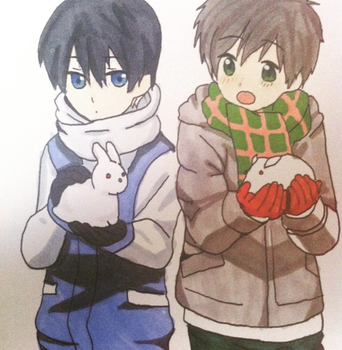 Makoharu Cute by rin-rose-art