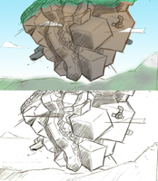 Floating Mountains Concept 2 by InvertedVantage