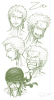 Zoro Faces by SybLaTortue