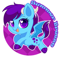 Summer Breeze button (Commission) by hikariviny