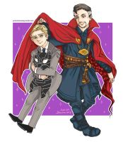 Dr Strange and Everett ross by doomaday