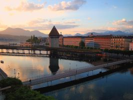 Luzern at Dawn, East by PretendtoBelieve