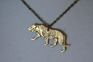 Tiger Necklace 1 by foowahu-etsy