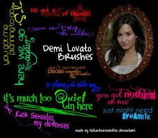 10 Demi Lovato Lyric Brushes by italianaussiehottie