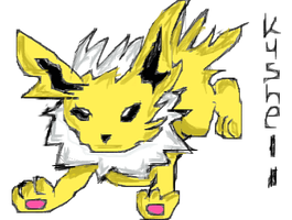 Mouse Muro Draw 3 - Blitza/Jolteon - by Kushell