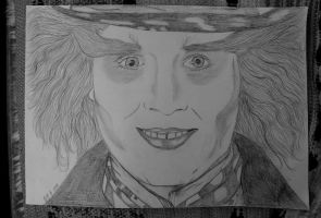 Johnny Depp: The Mad Hatter by Arspe